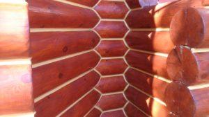 Теплый шов для деревянного дома.